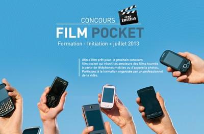 Atelier de formation FILM POCKET pour jeunes de 15 à 30 ans.