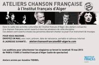 Ateliers chanson française à l'Institut français d'Alger