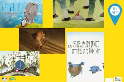 Ciné jeune public + parents - Séance en ligne de 5 films d'animation pour familles