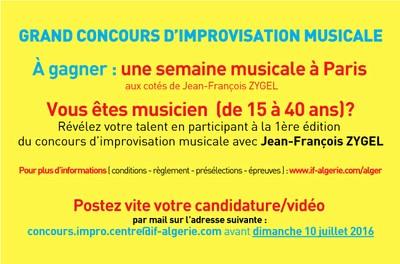 GRAND CONCOURS D'IMPROVISATION MUSICALE DE L'Institut Français d'Algérie