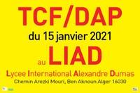 IMPORTANT- changement d'adresse épreuves TCF DAP papier  du 15 janvier 2021