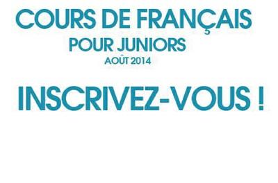 Inscriptions aux Cours juniors août 2014