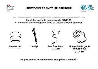 Protocole sanitaire appliqué