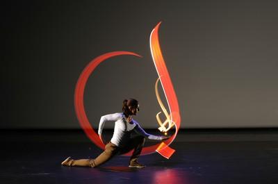 Atelier danse, musique et light-painting