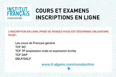 Cours et examens : inscriptions en ligne