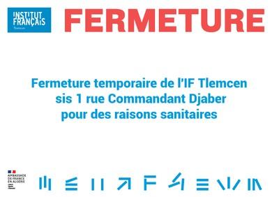 Fermeture temporaire de l'IF Tlemcen