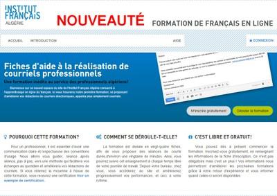 NOUVEAUTÉ !!! FORMEZ-VOUS À LA RÉALISATION DE COURRIELS PROFESSIONNELS AVEC L'INSTITUT FRANÇAIS