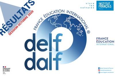 Résultats DELF/DALF session Octobre 2020