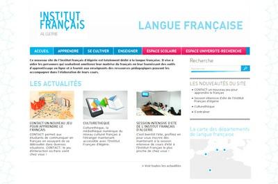 Site dédié à la langue française